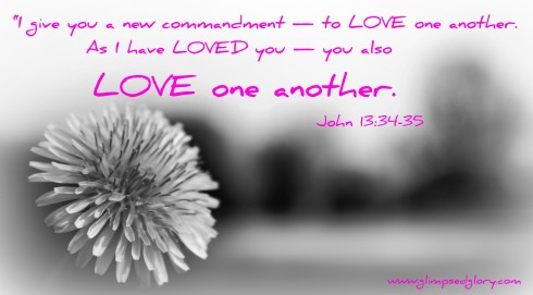 Love one another  John 13:34-35